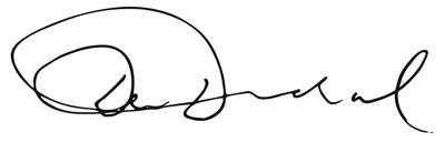 Dev Dadral Swiis Chairman Signature